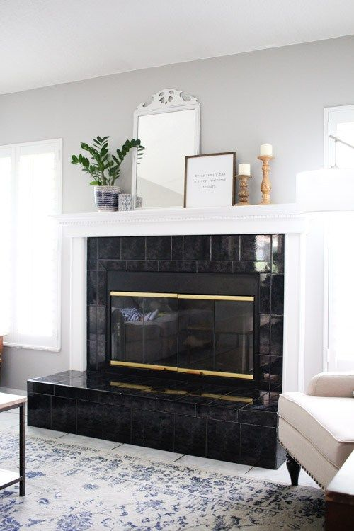 Easily Update Your Brass Fireplace Family Room Inspiration Fireplace Paint Colors For Home