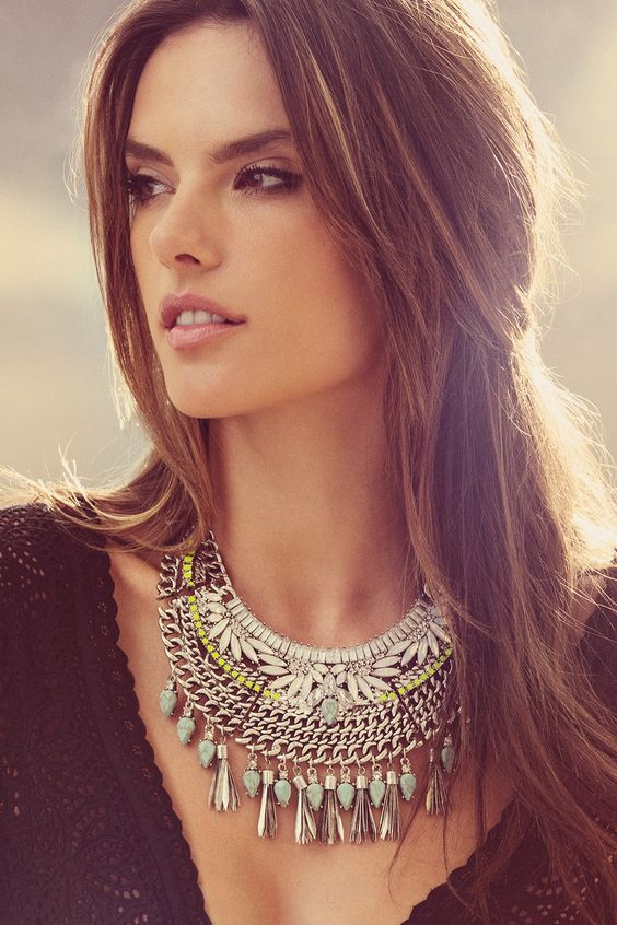 Necklaces, My other half and The younger on Pinterest Alessandra Ambrosio Necklace