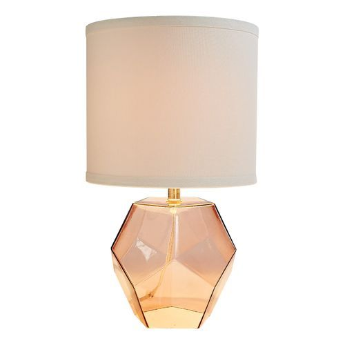 Blush Geo Glass Table Lamp Table Lamp Lamp Glass Table