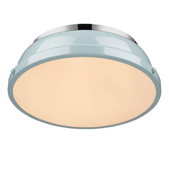 """Golden Lighting 3602-14 Duncan 14"""" Flush Mount"""