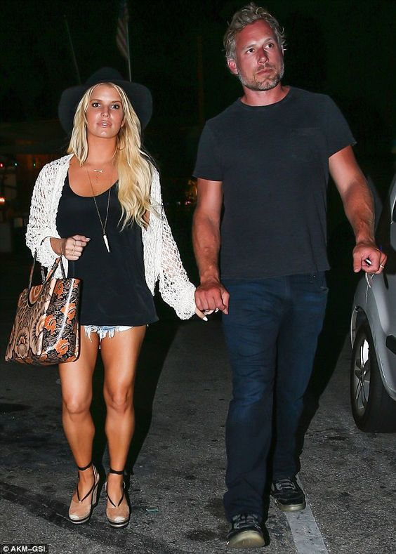 Looking awesome: Jessica Simpson looked toned, bronzed and beautiful when she stepped out ...