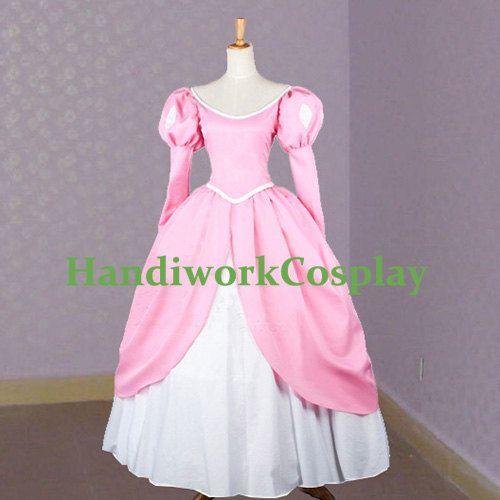 The little mermaid cosplay princess ariel pink party dress costume princess ariel pink dress - Costume princesse disney adulte ...