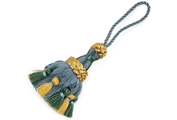 Palazzo Key Tassel, Blue & Gold on OneKingsLane.com