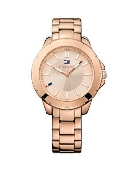 Tommy Hilfiger  Womens Casual Sport Rose Gold Tone Watch