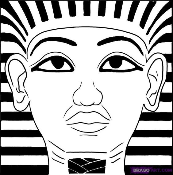 Tutankhamun coloring pages king tut mask coloring page for King tut coloring pages