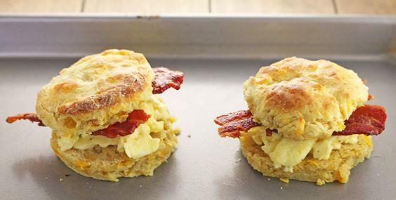 Cheddar Biscuit Breakfast Sandwiches