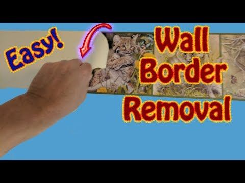 The Easy Way To Remove Wall Border Wallpaper Border Removal The Easy Way Youtube Wallpaper Border How To Remove Wall Borders