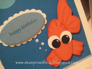 cute fish card made with punches