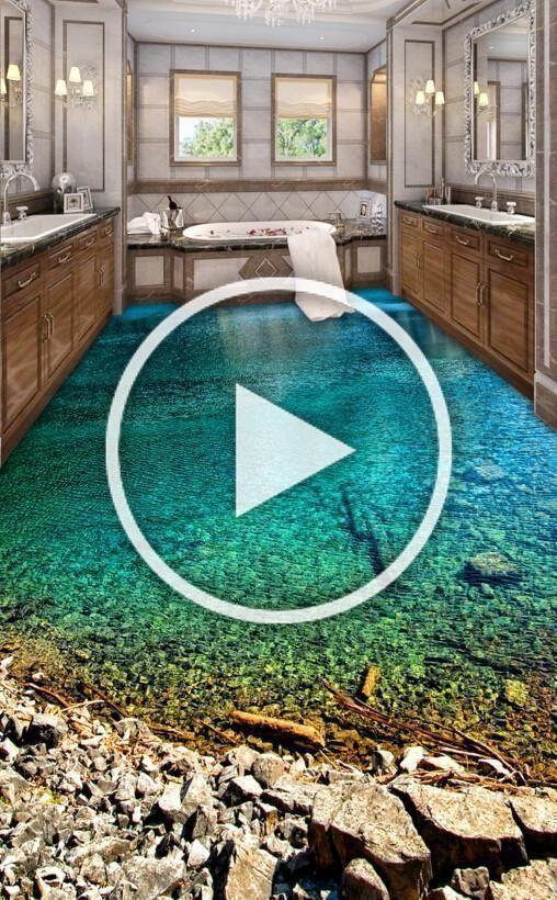 3d Lake Gravel Floor Mural Wallpaper Aj Wallpaper 2 Garten