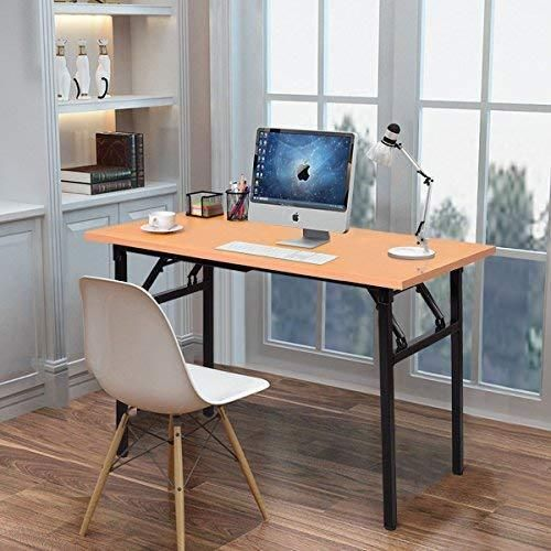 47 2 Folding Computer Desk Pc Table Writing Gaming Bench Home