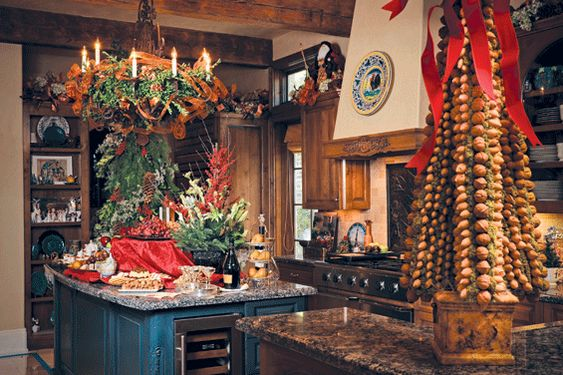 country home decorating ideas for christmas | French Country Christmas Decor → 13-christmas-kitchen-decoration