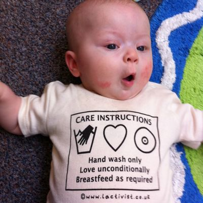 CARE INSTRUCTIONS - Hand wash only.  Love  unconditionally.  Breastfeed as required!