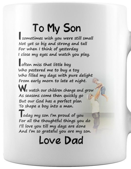 i sometimes wish you were still small gift daddy mug father day to my son