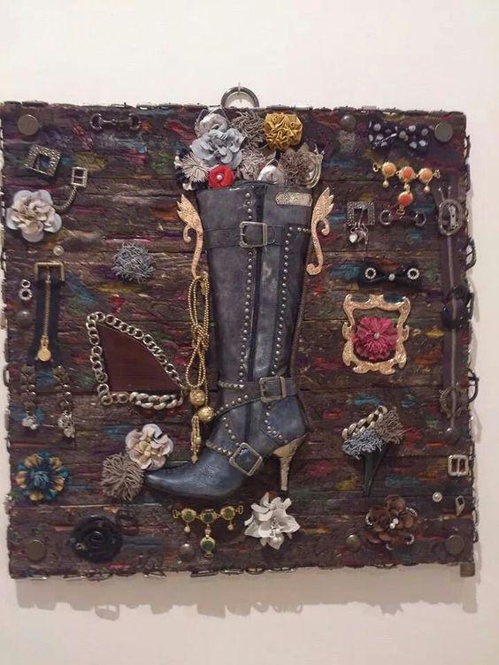 Arte con material del calzado Pepe Carrión