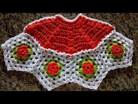 Saia De Croche Para Pano De Prato Parte 1 Youtube Panos De Cozinha De Croche Padroes De Flores De Croche Croche Pano De Prato