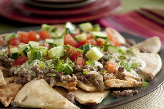 Greek Nachos Pita Bread Recipe — Dishmaps