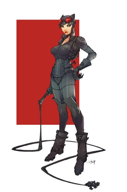 Arkham Knight Catwoman by Jonboy Meyers and Elizabeth Torque