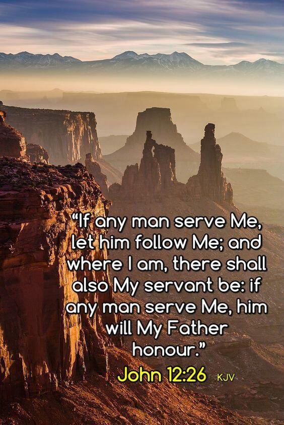 Image result for John 12:26 kjv