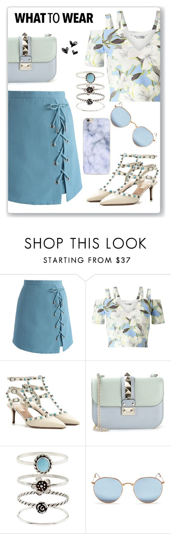 """Sem título #310"" by ririmar ❤ liked on Polyvore featuring Chicwish, Miss Selfridge, Valentino, Accessorize and Ray-Ban"