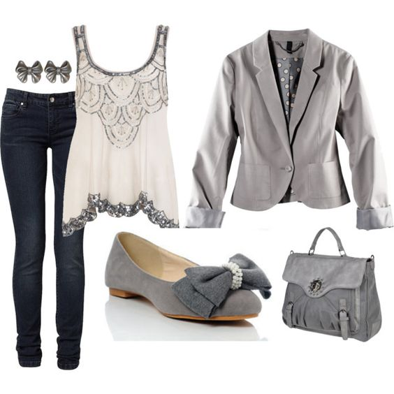 Polyvore #20 Gray casual