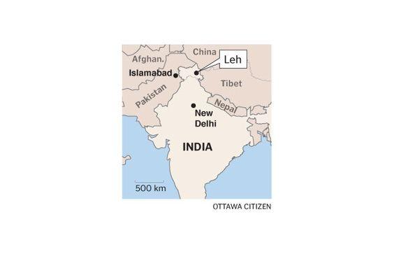 Map of Leh, India