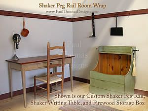 Paul Thomas Shaker Peg Rail Room Wrap Interiors