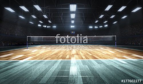 Empty Professional Volleyball Court In Lights Ad Professional Empty Volleyball Lights Court In 2020 Professional Volleyball Volleyball Indoor Volleyball