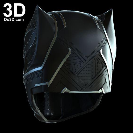 3D Printable Model: Black Panther Helmet V2.5, Necklace ...