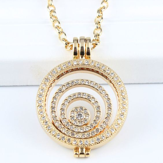 Interchangeable Disc Necklace: Details About Interchangeable Necklace 33MM Coin Holder