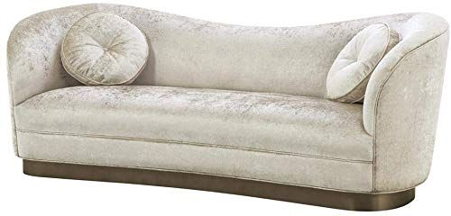 Best Seller Off White Sofa Eichholtz Jackie Mirage Velvet Curved Couch Including 2 Accent Cushions Tufted Button Design Modern Luxury Furniture Online In 2020 Curved Couch Luxury Furniture Furniture