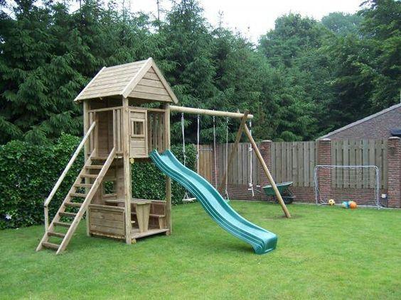 kinderspeelplek voor in de tuin - speeltoestel