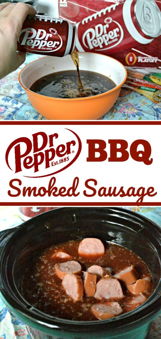 Dr Pepper BBQ Smoked Sausage