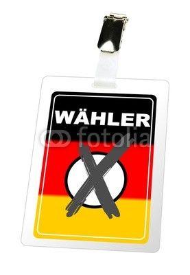 Wähler Ausweis mit angekreuztem Feld, Bundestagswahl 2013 ... Fotolia