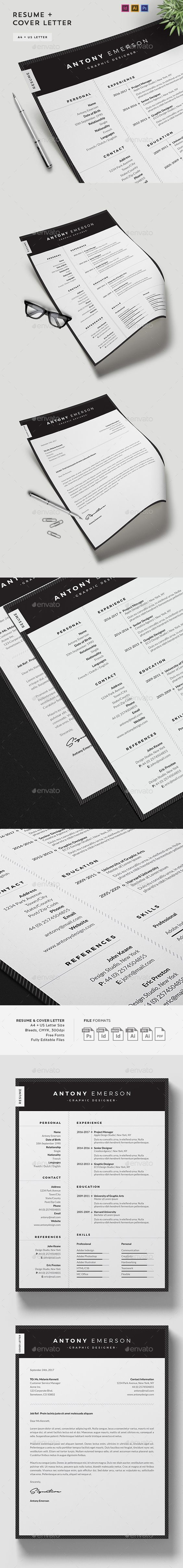 resume cv template professional resume resume writing and buy resume cv template by agape z on graphicriver resume cv amp cover letter template professional minimal and clean resume template for job seekers