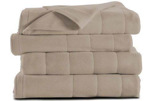 Sunbeam Microplush Twin Heated Electric Blanket Electric Blankets Heated Blanket Flannel Quilts