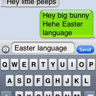 Easter language!
