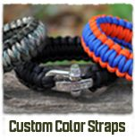 """""""Survival Strap"""" bracelet - Wear it as a """"fashion statement"""" and  """"unravel the paracord to get out of a jam."""""""