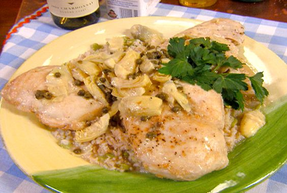 Chicken Piccata with Lemon, Capers and Artichoke Hearts from FoodNetwork.com