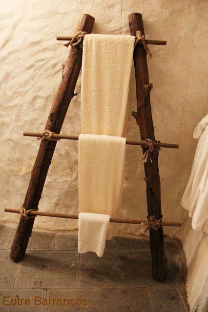 toallero r stico tronco pinterest muebles casa y