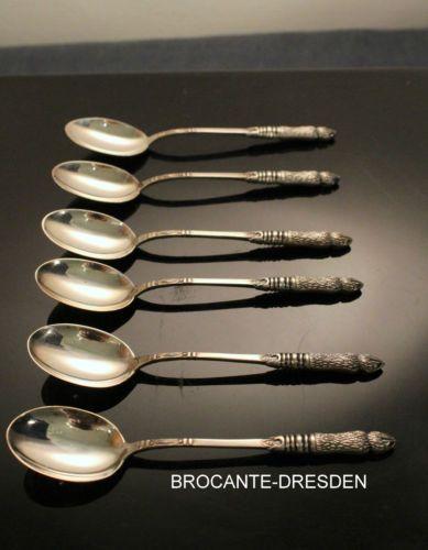 6-Moccaloeffel-GS-835er-Silber-10-2-cm-Espressoloeffel-Rehlaeufe