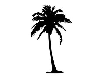 palm tree decal silhouette svg dxf file instant download silhouette cameo cricut clip art
