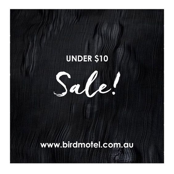 Have you heard about our amazing FINAL CLEARANCE SALE happening right now?  Gorgeous spring/summer staples under $10, some even $5. We are making way for new arrivals, so all stock MUST GO.  Hurry styles won't last long.  Shop with link in bio.  #save #sale #discount #finalclearance #shopping #fashion #birdmotel #instagood #inspo #onlineshop #quote #fashionquote #word #clickfrenzy