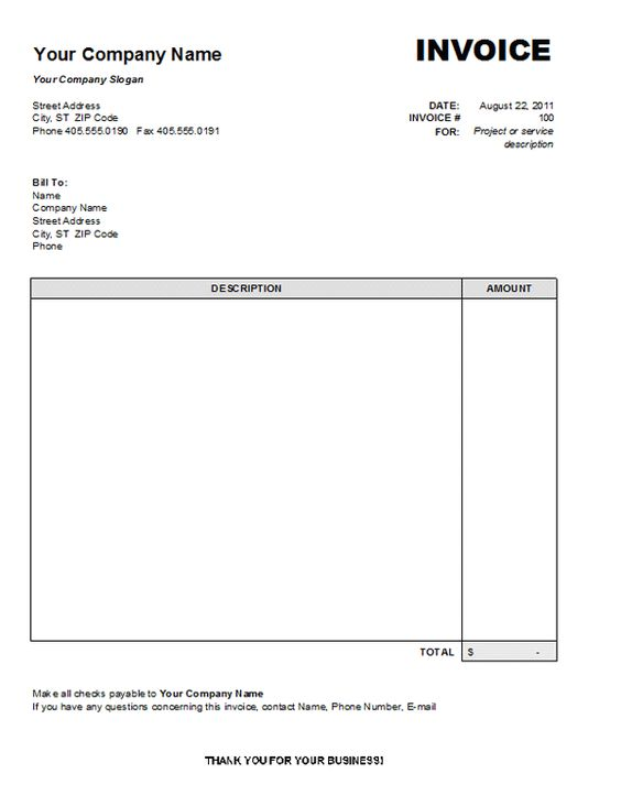 Service Invoice Template 2 Invoice Template Word Invoice Layout Invoice Format In Excel