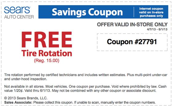 Sears tire coupon code