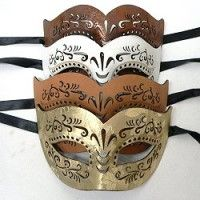 Leather masks, a new option for masquerade masks—these masks are pliable and comfortable to wear.  A pattern of cutout scrollwork adds to the attractiveness of the masks that come in four colors.  Find these and more styles to please your customers' tastes by clicking the link to wholesale Venetian style masks.  http://www.awnol.com/store/Masks/Venetian-Style-Masks