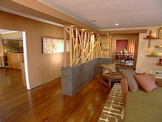amusing living room half wall | Zen, House decorations and Hallways on Pinterest