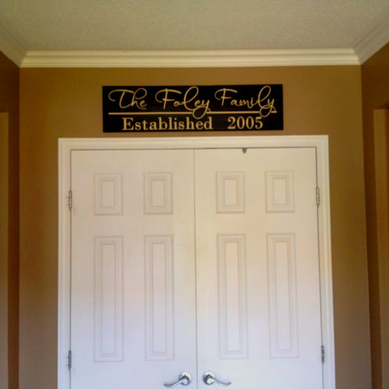 Family established sign in my front entrance.  Thanks to Adonai Woods.