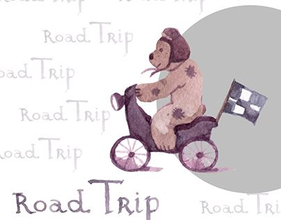 """Check out new work on my @Behance portfolio: """"project for road trip agency with  funny bear"""" http://on.be.net/1JYY2rq"""