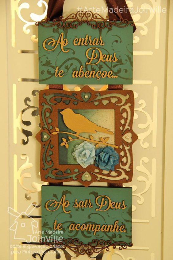 Placas de porta - ScrapDecor - Recortes AMJ  Visite nossa loja virtual: www.artemadeirajoinville.com.br