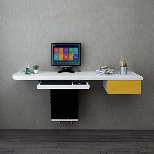 Floating Shelf Wall Desk Computer Table With Keyboard Tray Walll Mount Laptop Desk Home Writing Desk Sp Office Desk Designs Computer Table Computer Desk Design